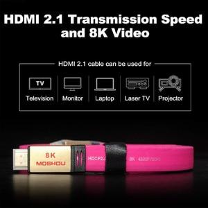 Image 2 - MOSHOU – câbles HDMI UHD HDR 48gbps, 4K @ 60HZ 8K @ 120Hz, pour Audio et vidéo, cordon HDMI 2.1