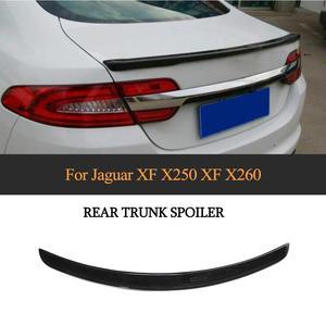 Carbon Fiber Car Rear Tunk Wing Spoiler for Jaguar XF 2012 - 2015 Rear Trunk Boot Lip Wing Spoiler Not for Sportbrake(China)