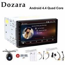 Quad Core Dos 2 Din 7 Pulgadas Android 6.0 Universal Car No Reproductor de DVD con Wifi 3G Host GPS BT RDS USB Enlace Espejo de Radio Libre mapa