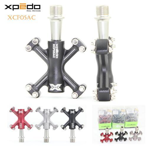 Pédales de vélo ultralégères Wellgo Xpedo XCF05AC 6061 pédales de vélo de route forgées en aluminium VTT pédale à 3 roulements
