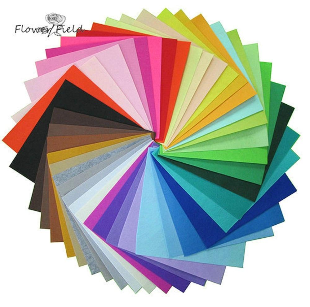 1 st 50CMX40CM Non Woven Filt Fabric Cloth 1mm Filt för nålverk Tjocka 17 Färger Hem Sömnad Dekor För Sömnad Dolls Craft