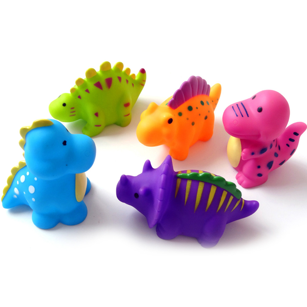 Bath Toy Baby dinosaur Toys Water Spraying Children Interesting Shower Tub Pool Swimming Water Colorful Soft Floating Cute Bath