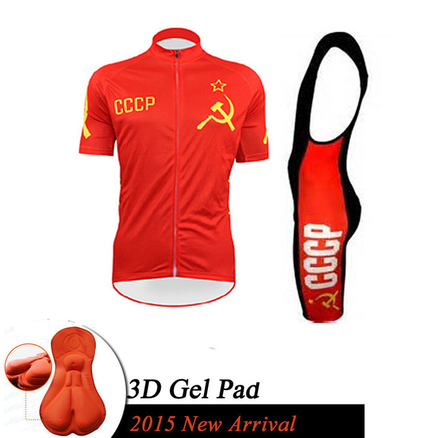 2015 Cccp Cycling Jersey Bicycle Short Sleeve Sport Pro