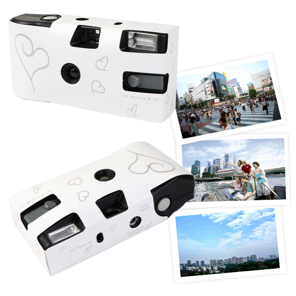 Aytai Disposable Camera Wedding Bridal Camera Flash and Matching ...