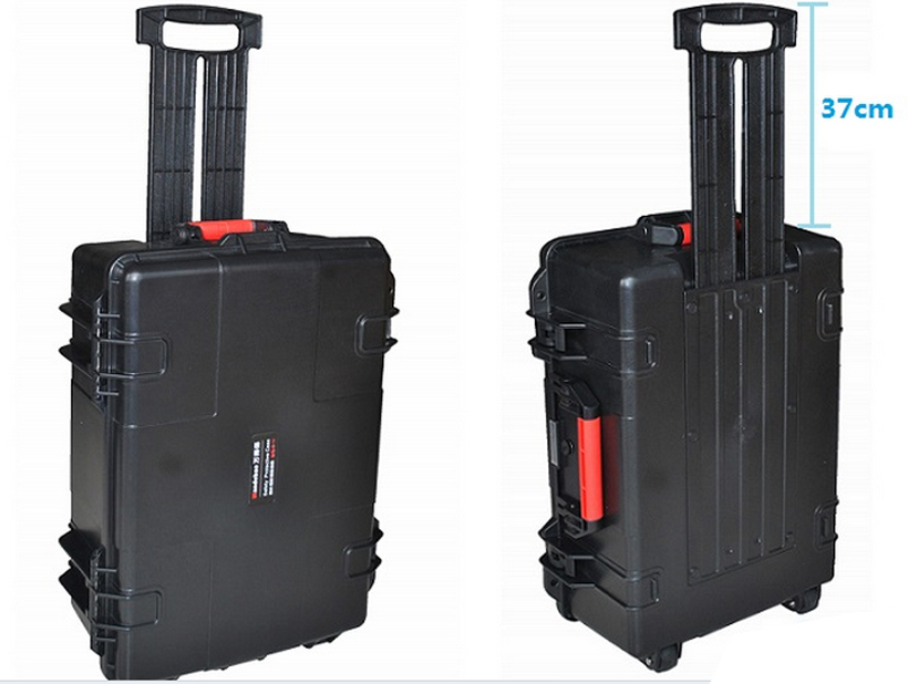 Tool trolley case tollbox Instrument  meter case waterproof case 613*460*230mm security tool equipment camera with pre-cut foam tool case gun suitcase box long toolkit equipment box shockproof equipment protection carrying case waterproof with pre cut foam