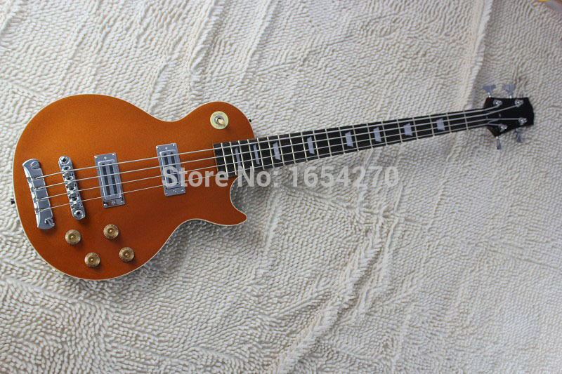 Free shipping L four-string electric bass golden color can be customized according to the requirements guitar 150801