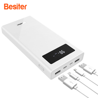 Besiter Power Bank 20000mAh Portable Phone Charger For Smart Phones External Dual USB Battery Charger Battery
