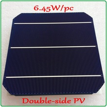 6 45W pc mono solar cell Newest Double side 156mm Monocrystalline Mono Silicon Solar Panel Cell