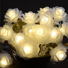 5 м 50 розы светодиодные гирлянды Рождество Свадебная вечеринка Батарея строка Освещение венки Фея светильники для украшения дома