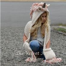 ファッション 3 10 歳の女の子ユニコーンスカーフ手作り子供冬帽子ラップユニコーンキャップかわいい秋暖かい子供ウールニットスカーフ