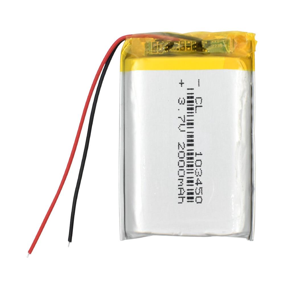 1/2/4 High Capacity 103450 3.7 V Lithium Polymer Battery 2000 Mah Li-po Li-polymer MP5 GPS Bluetooth Speaker Cells Batteries