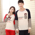Korean Pajama Sets Couple Lovers Sleepwear Sets Male Long-Sleeved Pajamas for Couples Nightwear Pijama Hombre Spring 2016