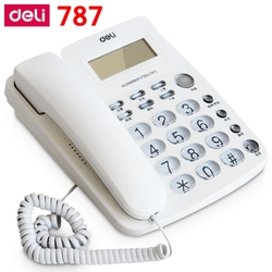 [ReadStar]Deli 787 seat type telephone corded phones home office telephone machine caller ID display records date time display