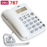 ReadStar Deli 787 Seat Type Telephone Corded Phones Home Office Telephone Machine Caller ID Display