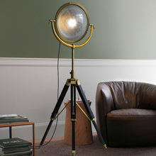 American Industrial Tripod Floor Lamp Living Room Standing Lamp Loft Creative Model Study Bronze Lampara Pie Standing Lamp E27(China)