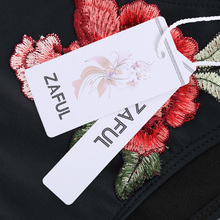Floral Patch Applique Cami Bikini Set