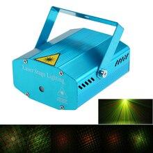 جهاز عرض ليزر LED صغير زينة عيد الميلاد ليزر ديسكو ضوء ضوء الليزر Dj تنشيط صوت DJ ديسكو عيد الميلاد إضاءة نادي