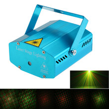 Mini LED Laser Projector Christmas Decorations Laser Disco Light Laser Light Dj Voice-activated DJ Disco Xmas Party Club Light(China)