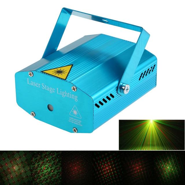 Mini LED Laser Projector Christmas Decorations Laser Disco Light Laser Light Dj Voice activated DJ Disco Xmas Party Club Light