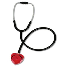 New Professional Lightweight Portable Red Heart-shape Single Head Stethoscope Medical tool For Nurses Doctor's Necessary