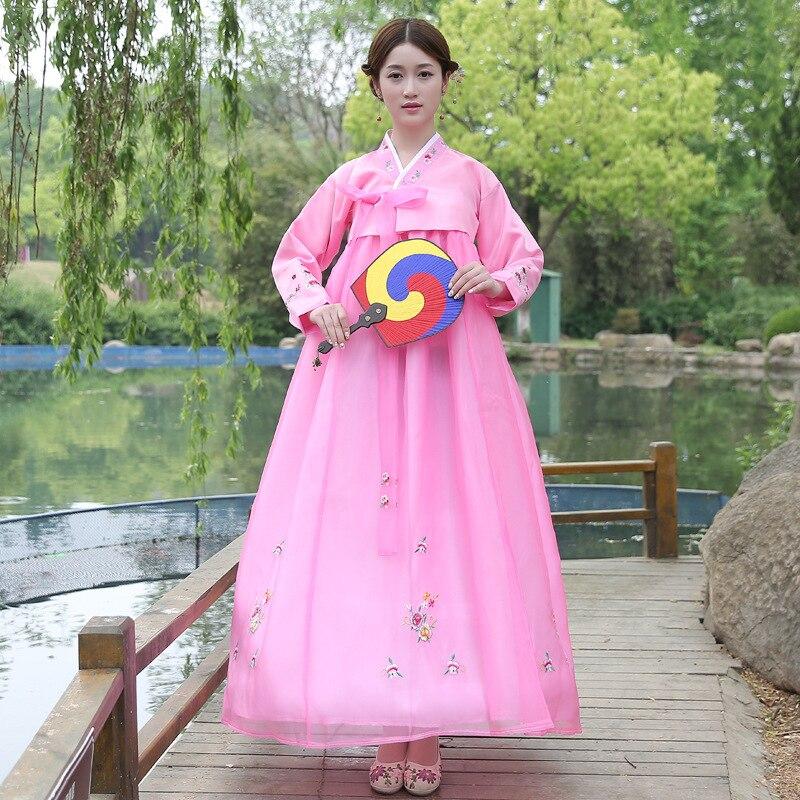 Vêtements traditionnels coréens brodent des femmes Hanbok Costume - Vêtements nationaux - Photo 3