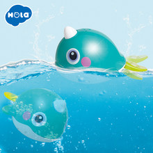 HOLA 8101 Bath Toy Bathing Spouts Bubble Whale bathroom Toys for Children Water Swimming shower kid(China)