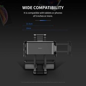Rock Tylne Siedzenie Samochodowe Stojak Na Tablet Uchwyt Na Zagłówek Dla IPad Air 2 3 4 5 6 Mini 1 2 3 Tablet PC Posiadacze Dla Xiaomi Huawei Pad