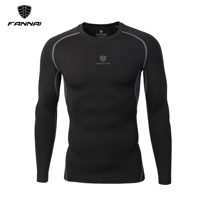 Mens Compression Running T Shirts Bodybuilding Skin Tight Long Sleeves Jerseys Clothing  ...