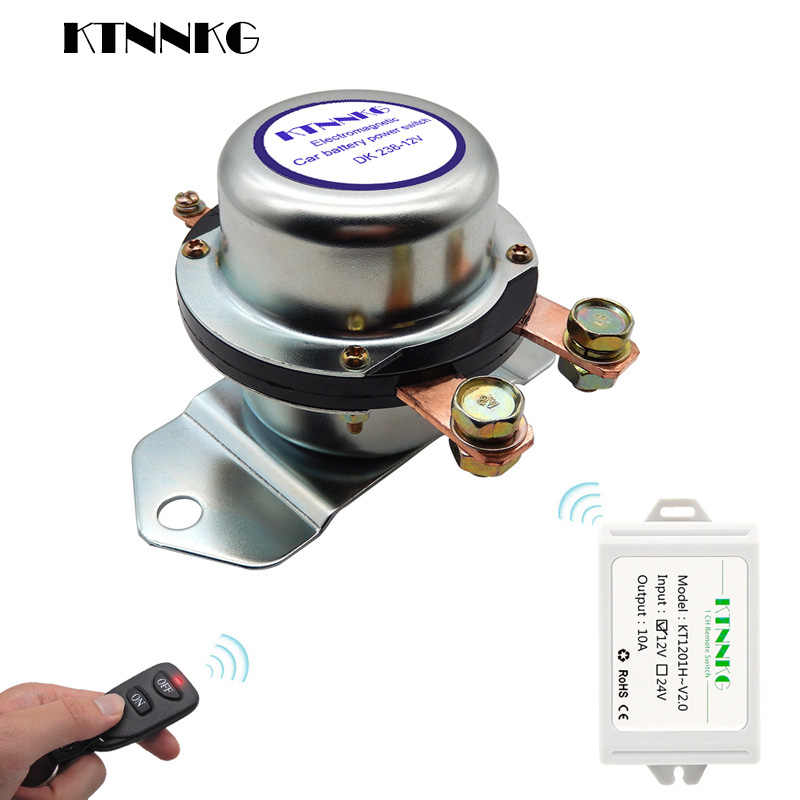 180A New Car Battery Switch Wireless Remote Control Disconnect Latching Relay Electromagnetic Solenoid Valve Terminal Master
