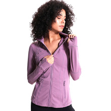 Women Sport jacket Autumn Winter fitness Running female Slim stretch sports zipper running long sleeves 031