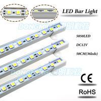 Высокое качество, Простота Использования 5 шт./лот 5050 LED Жесткий жесткий Газа 36 Светодиодов Номера для водонепроницаемый U/V Тип AL Shell LED Light Bar 50...
