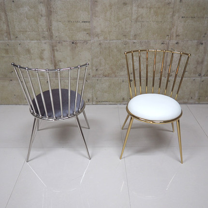 Stainless steel dining chair study chair simple modern chair italian modern nordic chair home restaurant cafe hotel chair practical windsor chair the study chair