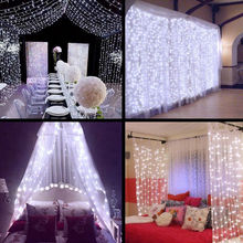 LED Icicle String Fairy Lights 3×1/3×2/4x2m