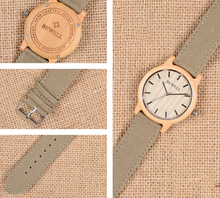 Luxury Quartz Bamboo Wristwatches