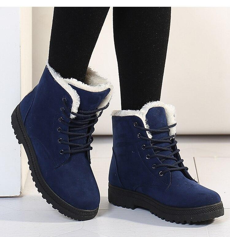 gray negro Mujer azul Las Piel Tacones Red De Moda Felpa Mujeres Nueva Tobillo Botas 2018 Llegada Plantilla Zapatos yellow Invierno Caliente Nieve 7xUz1wqHz