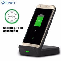 OLLIVAN QI Wireless Charger Cooling Wireless Fast Mobile Phone Charger Stand For IPhone 8 7 Plus