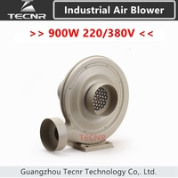 TECNR 900W 220V 380V Exhaust Fan Air Blower For CNC Laser machine industrial Low Noise