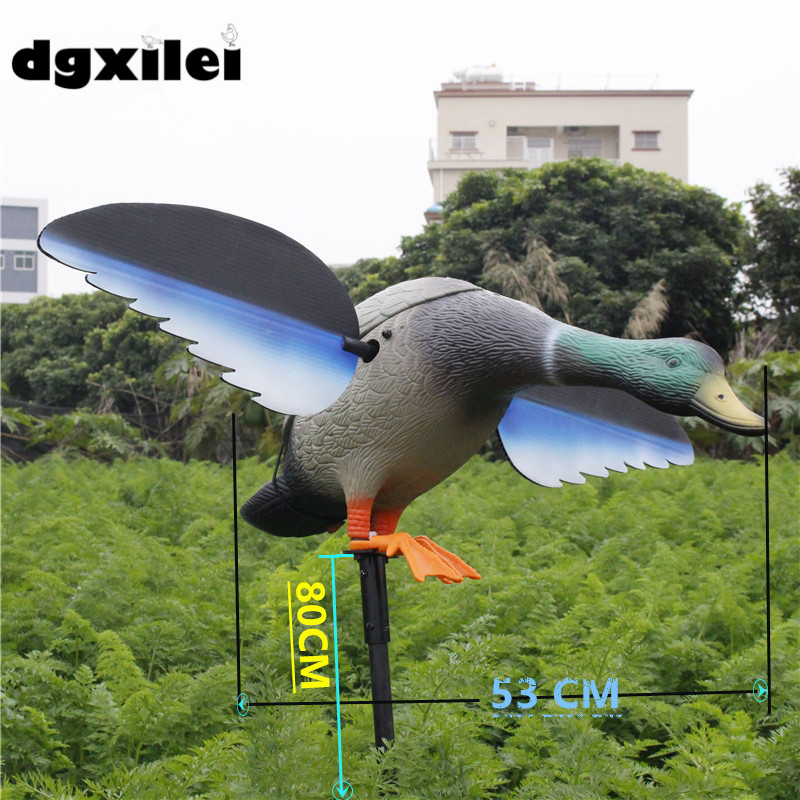 2017 Xilei Free Shipping Dc 6V Duck Hunting Decoy Item Wholesale&Retail With Spinning Wings fancytrader new style giant plush stuffed kids toys lovely rubber duck 39 100cm yellow rubber duck free shipping ft90122