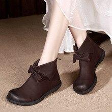 Дизайнерские женские ботильоны Сапоги Челси из натуральной кожи для Для женщин осень 2017 г. ручной работы кожаные ботинки Martin ступить ленивый Обувь