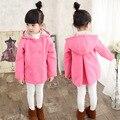 Autumn Winter Children Girls Jacket Coat Hooded Thick Girls Woolen Coat 3-11 Years Kids Outerwear Jacket For Teenage Girls