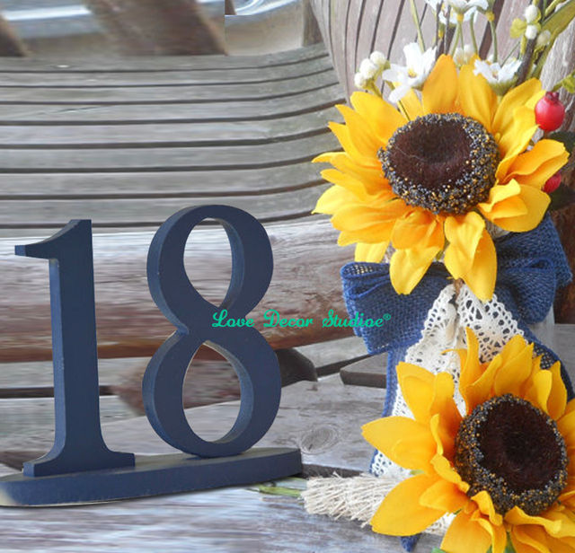 Dark Blue 1 20 Diy Table Numbers Table Numbers For Wedding Table