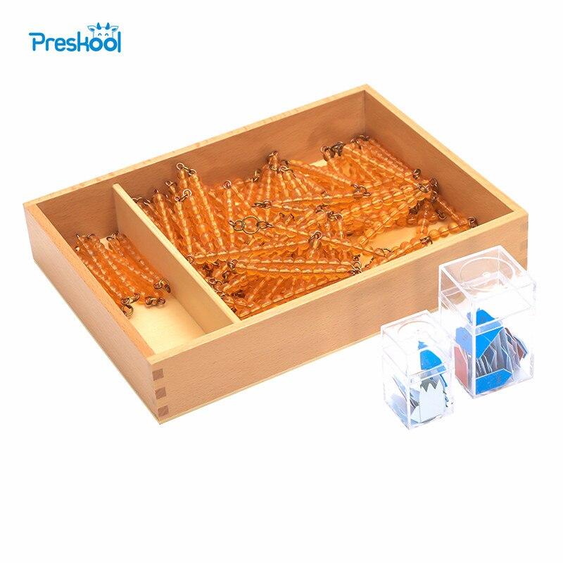 Bébé jouet Montessori imprimé flèches perles chaînes de 100 et 1000 avec boîte éducation de la petite enfance formation préscolaire apprentissage