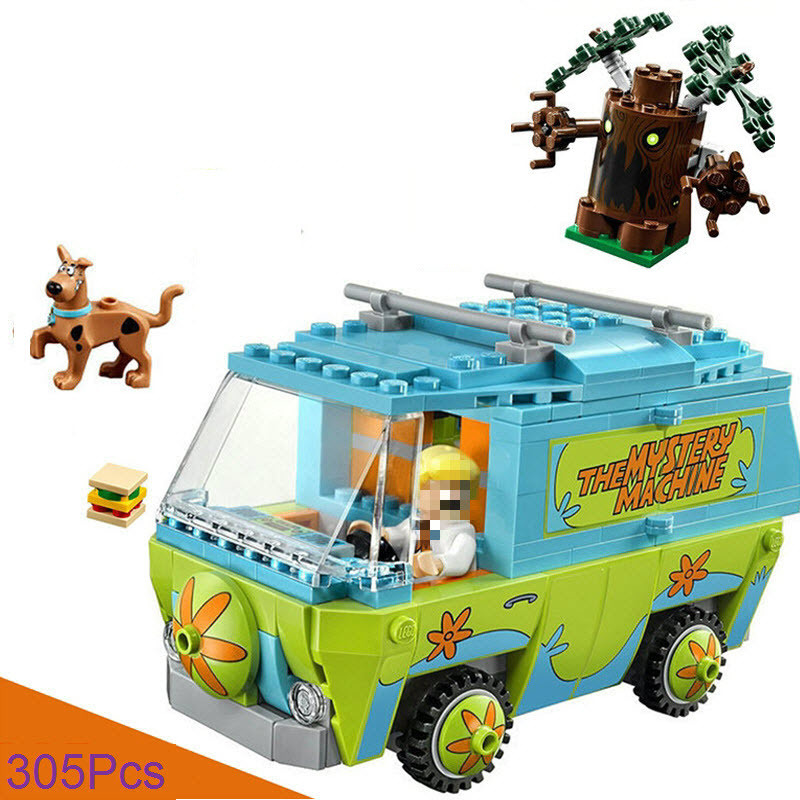 305pcs Diy Scooby Doo Series The Mystery Machine Bus Building Blocks Model Compatible With Legoingly Bricks Toys For Children sermoido 305 pcs building blocks scooby doo the mystery machine 75902 model compatible figure toy for children b46
