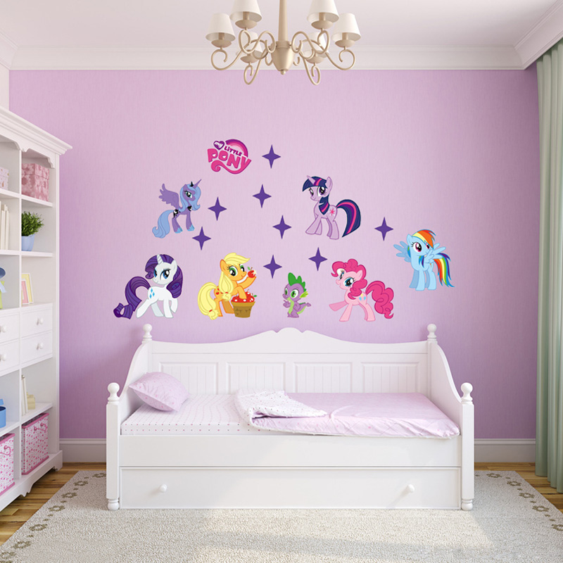 Captivating ... Aliexpress My Little Pony Wall Stickers For Kids Rooms Children On The  ... Part 15