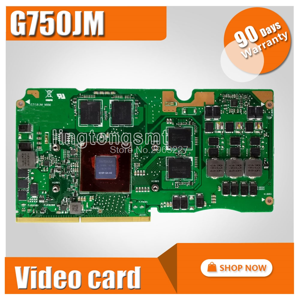 For Asus ROG G750J laptop card 60NB04J0-VG1020 69N0QVV10C03-01 GTX 860M G750JM N15P-GX-A2 GeForce GTX 860M 2GB VGA Graphic card n15p gx a2 n15p gt a2 computer graphics card chips leave a message model you need
