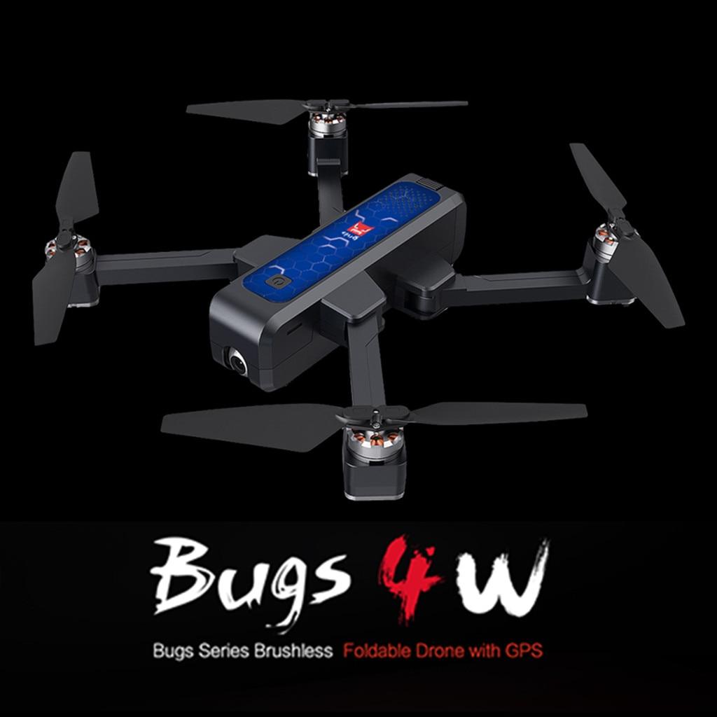 Drone pliable sans brosse de MJX Bugs 4 W B4W 5G WIFI FPV GPS avec le Minion volant professionnel de quadrirotor de RC de Drone de caméra de 2 K HD