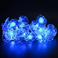 20 LED Solar Powered Crystal Morning Glory String Lights Lamp for Indoor Outdoor Garden Home Wedding Christmas Party Lighting
