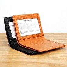 LANSPACE cartera de cuero para hombre, de marca de carteras, informal, de bolsillo, de diseño original