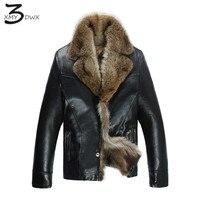 XMY3DWX moda masculina de alta calidad caliente del mapache cuero/hombre calidad slim fit casual chaquetas de cuero/hombres capa de S-4XL