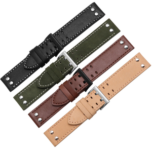 Image 5 - Genuine Leather watchband replacement leather strap Khaki Classic Jazz Seiko watch chain for Hamilton 20mm 22mm